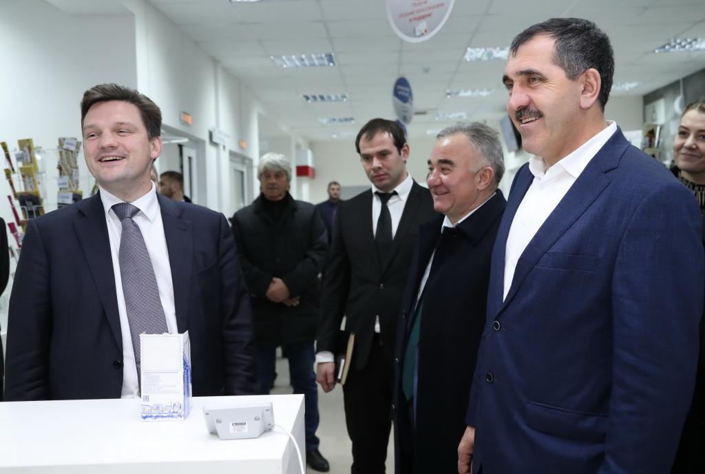 Руководитель «Почты России» открыл многофункциональное отделение вИнгушетии