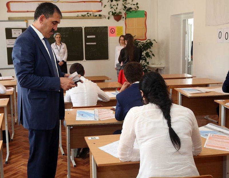Пункт сдачи ЕГЭ в НазраниАли Оздоев- пресс-служба Главы и правительства Ингушетии