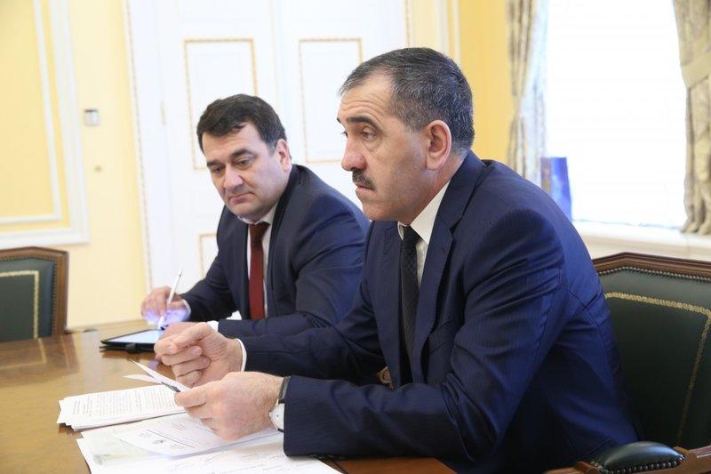 Руководитель Ингушетии провел встречу сминистром спортаРФ